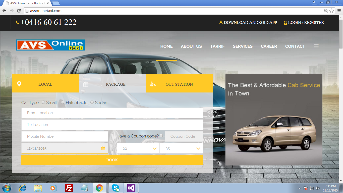 Search software for taxis 73